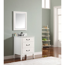 Avanity Delano (single) 25-Inch White Vanity Cabinet & Optional Countertops