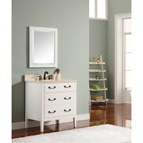 Avanity Delano (single) 31-Inch White Vanity Cabinet & Optional Countertops
