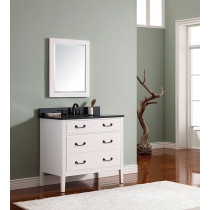 Avanity Delano (single) 37-Inch White Vanity Cabinet & Optional Countertops
