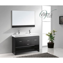 Virtu USA Gloria (double) 47.2-Inch Espresso Contemporary Bathroom Vanity Set