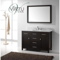Virtu USA Caroline (single) 48-Inch Espresso Contemporary Bathroom Vanity with Mirror