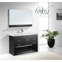 Virtu USA Gloria (single) 47.2-Inch Espresso Modern Bathroom Vanity Set