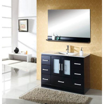 Virtu USA Zola (single) 47.2-Inch Espresso Modern Bathroom Vanity with Mirror