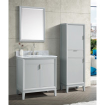 Avanity Emma (single) 31-Inch Dove Gray Vanity Cabinet & Optional Countertops
