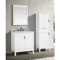 Avanity Emma (single) 31-Inch White Vanity Cabinet & Optional Countertops