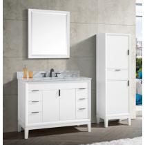 Avanity Emma (single) 43-Inch White Vanity Cabinet & Optional Countertops