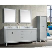 Avanity Emma (double) 73-Inch Dove Gray Vanity Cabinet & Optional Countertops