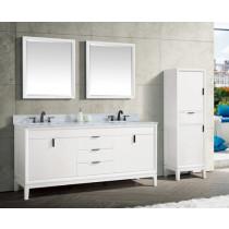 Avanity Emma (double) 73-Inch White Vanity Cabinet & Optional Countertops