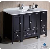 Fresca Oxford (single) 48-Inch Espresso Transitional Modular Bathroom Vanity
