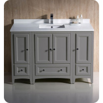 Fresca Oxford (single) 48-Inch Gray Transitional Modular Bathroom Vanity