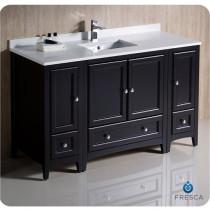 Fresca Oxford (single) 54-Inch Espresso Transitional Modular Bathroom Vanity