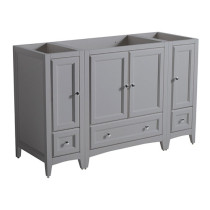 Fresca Oxford (single) 53.5-Inch Gray Transitional Modular Bathroom Vanity - Cabinet Only
