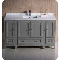 Fresca Oxford (single) 54-Inch Gray Transitional Modular Bathroom Vanity