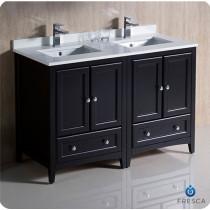 Fresca Oxford (double) 48-Inch Espresso Transitional Modular Bathroom Vanity