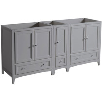 Fresca Oxford (double) 71-Inch Gray Transitional Modular Bathroom Vanity - Cabinet Only