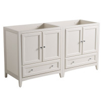 Fresca Oxford (double) 59-Inch Antique White Transitional Modular Bathroom Vanity (Model 2) - Cabinet Only