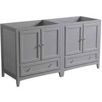 Fresca Oxford (double) 59-Inch Gray Transitional Modular Bathroom Vanity (Model 2) - Cabinet Only