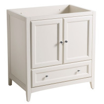 Fresca Oxford (single) 29.5-Inch Antique White Transitional Bathroom Vanity - Cabinet Only