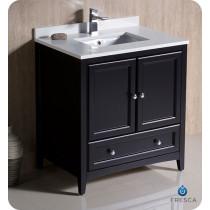 Fresca Oxford (single) 30-Inch Espresso Transitional Bathroom Vanity