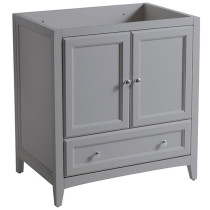 Fresca Oxford (single) 29.5-Inch Gray Transitional Bathroom Vanity - Cabinet Only