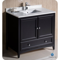 Fresca Oxford (single) 36-Inch Transitional Espresso Bathroom Vanity