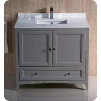 Fresca Oxford (single) 36-Inch Transitional Gray Bathroom Vanity