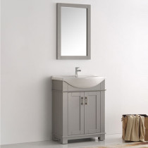 Fresca Hartford (single) 29.5-Inch Gray Modern Bathroom Vanity