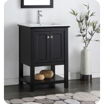 Fresca Manchester (single) 23.5-Inch Black Modern Bathroom Vanity