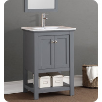 Fresca Manchester (single) 23.5-Inch Gray Modern Bathroom Vanity