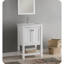 Fresca Manchester (single) 23.5-Inch White Modern Bathroom Vanity