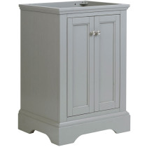 Fresca Windsor (single) 23.9-Inch Transitional Gray Textured Bathroom Vanity - Cabinet Only