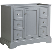 Fresca Windsor (single) 39.5-Inch Transitional Gray Textured Bathroom Vanity - Cabinet Only