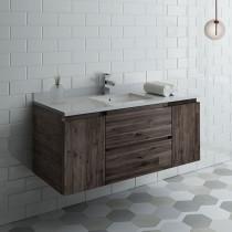 Fresca Formosa (single) 48-Inch Acacia Modern Modular Wall-Mount Bathroom Vanity