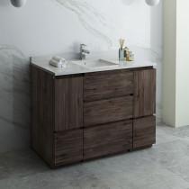 Fresca Formosa (single) 48-Inch Acacia Modern Modular Bathroom Vanity