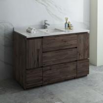 Fresca Formosa (single) 54-Inch Acacia Modern Modular Bathroom Vanity