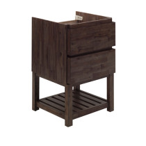 Fresca Formosa (single) 23-Inch Acacia Modern Modular Bathroom Vanity w/ Open Bottom - Cabinet Only