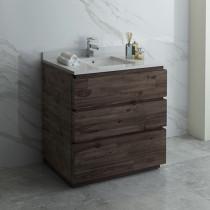 Fresca Formosa (single) 36-Inch Acacia Modern Modular Bathroom Vanity
