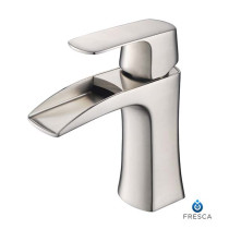 Fresca Fortore FFT3071BN Brushed Nickel Single Hole Bathroom Faucet