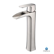 Fresca Fortore FFT3072BN Brushed Nickel Single Hole Vessel Bathroom Faucet