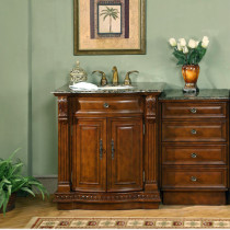 Amaretto And Side Cabinet (single) 53-Inch Traditional Bath Vanity Set