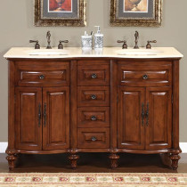 Isabella (double) 55-Inch Traditional Bathroom Vanity