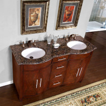 Vesuvius (double) 58-Inch Transitional Bathroom Vanity