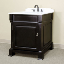 Harlow (single) 30-inch Espresso Traditional Bathroom Vanity With Mirror Option
