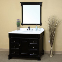 Harlow (single) 50-inch Espresso Traditional Bathroom Vanity With Mirror Option