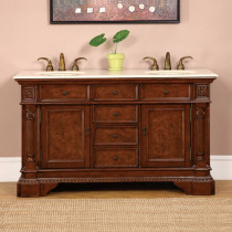 Chesterfield (double) 60-Inch Traditional Bathroom Vanity