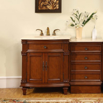 Brielle (single) 51-Inch Traditional Modular Bathroom Vanity