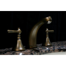 Sassy Brassy Antique Brass Three Hole Faucet Set