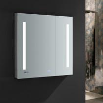 Fresca Tiempo 30x30-Inch Medicine Cabinet with LED Lighting & Defogger