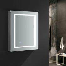 Fresca Spazio 24x30-Inch Medicine Cabinet with LED Lighting & Defogger - Right