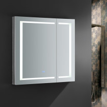 Fresca Spazio 36x36-Inch Medicine Cabinet with LED Lighting & Defogger